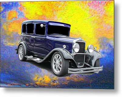 Classic Car Metal Print featuring the photograph Crank It  by Aaron Berg