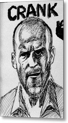 Metal Print featuring the painting Jason Statham by Salman Ravish