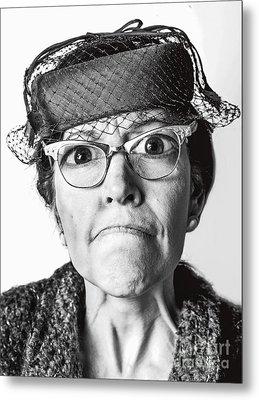 Cranky Old Lady Metal Print by Diane Diederich