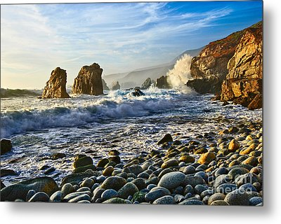 Crash - Waves From Soberanes Point In Garrapata State Park In California. Metal Print by Jamie Pham