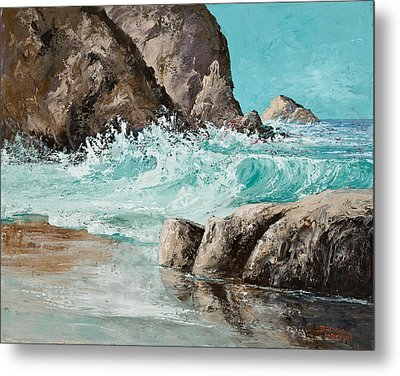 Crashing Waves Metal Print by Darice Machel McGuire