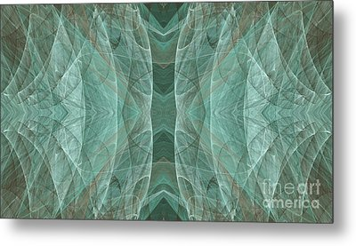 Crashing Waves Of Green 3 - Abstract - Fractal Art Metal Print by Andee Design