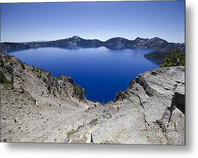 Metal Print featuring the photograph Crater Lake by David Millenheft