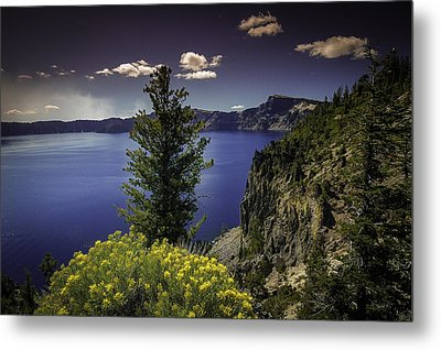 Crater Lake Metal Print by Jean-Jacques Thebault