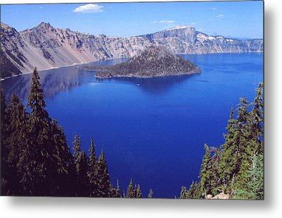 Metal Print featuring the photograph Crater Lake Oregon by Mary Bedy