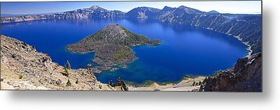 Metal Print featuring the photograph Crater Lake Panorama 090914a by Todd Kreuter