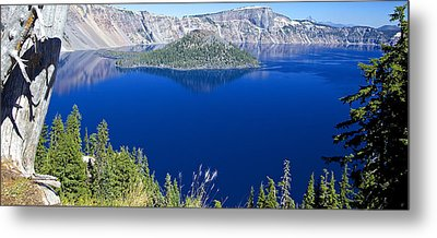 Metal Print featuring the photograph Crater Lake Panorama 090914b by Todd Kreuter