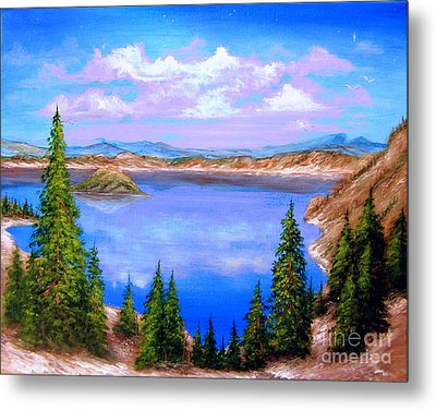 Crater Lake Oregon Metal Print by Patrice Torrillo