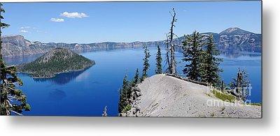 Crater Lake Scenic Panorama Metal Print by John Kelly