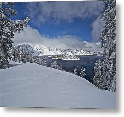 Metal Print featuring the photograph Crater Lake/ Wizard Island by Todd Kreuter