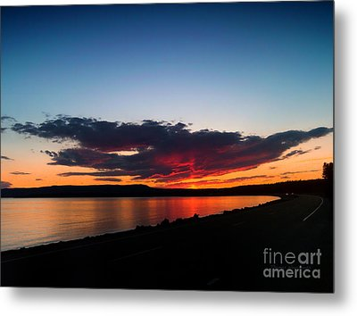 Crater Lake Yellowstone National Park Montana Metal Print by Thomas Woolworth