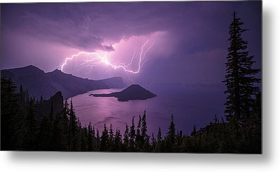 Crater Storm Metal Print by Chad Dutson