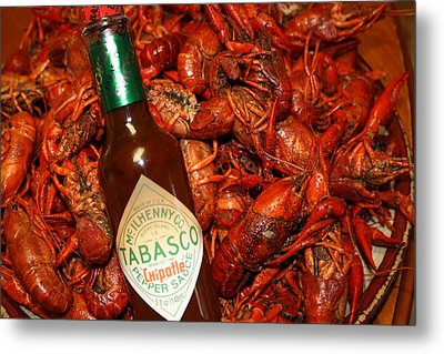 Crawfish And Tabasco Metal Print