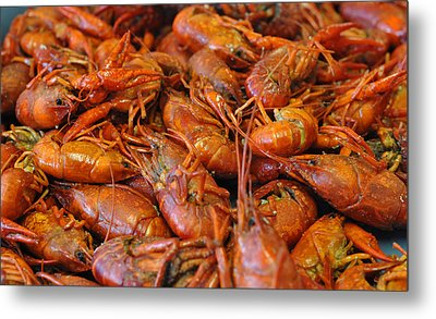 Crawfish Boil Metal Print by Steve Archbold