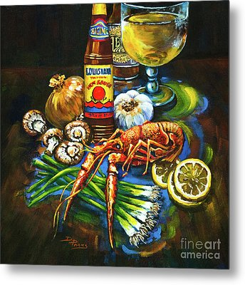 Crawfish Fixin's Metal Print by Dianne Parks