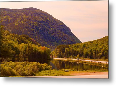 Crawford Notch Homage To Thomas Cole Metal Print