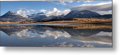 Crawford Reservoir And The West Elk Mountains Metal Print