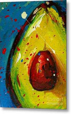 Crazy Avocado 4 - Modern Art Metal Print