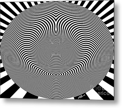 Crazy Circles Metal Print by Methune Hively