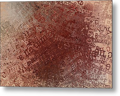 Crazy Grunge Type Abstract Metal Print by Andrea Auletta