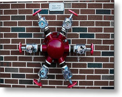 Crazy Water Pump Metal Print