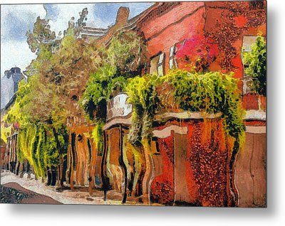 Crazy Whimsy Wacky New Orleans Metal Print