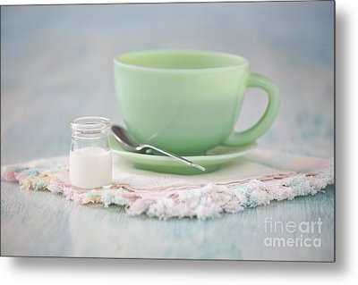 Cream And Coffee Metal Print by Kay Pickens