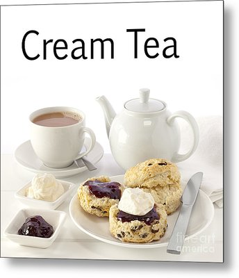 Cream Tea Metal Print