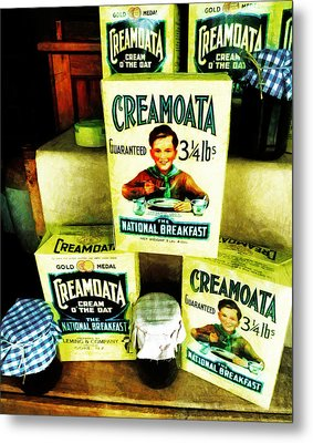 Creamoata - Cream  O' The Oat Metal Print by Steve Taylor