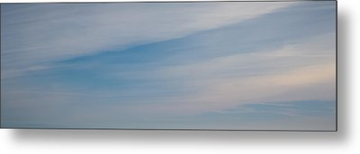 Creamy Blue Smooth Metal Print by R J Ruppenthal