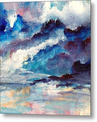Metal Print featuring the painting Creation by Kathy Bassett