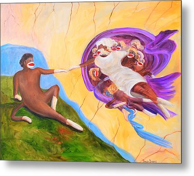 Creation Of A Sock Monkey Metal Print