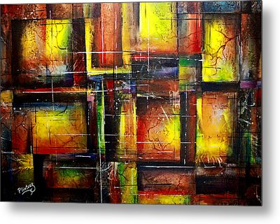 Metal Print featuring the painting Creation by Patricia Lintner