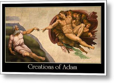 Creations Of Adam Metal Print by Scott Ross