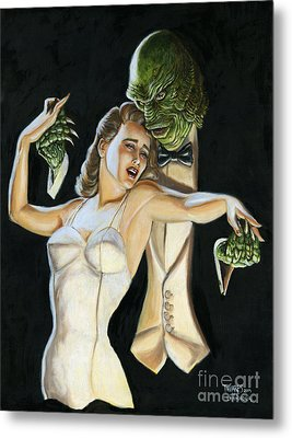 Creature From The Black Tie Lagoon Metal Print by Mark Tavares