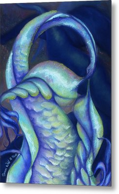 Metal Print featuring the pastel Creature by Susan Will
