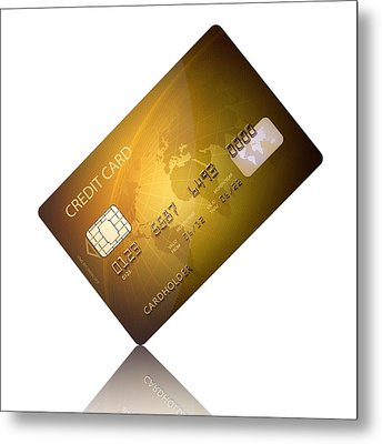 Credit Card Metal Print by Johan Swanepoel