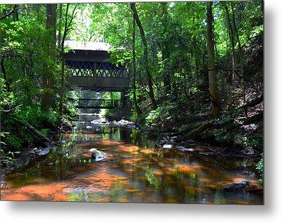 Creek Bridge Metal Print