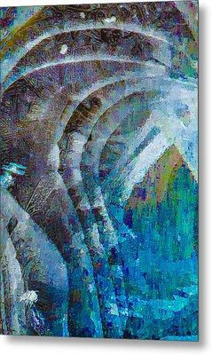 Creek Ice Abstract I Metal Print