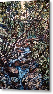Creek Near Smart View Metal Print by Kendall Kessler
