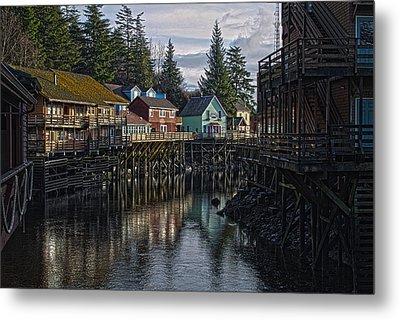 Creek St. Ketchikan Alaska Metal Print by Timothy Latta