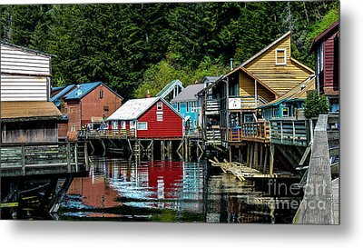 Creek Street - Ketchikan Alaska Metal Print