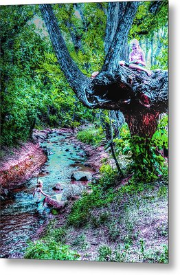 Metal Print featuring the photograph Creek Time Enchantment by Lanita Williams