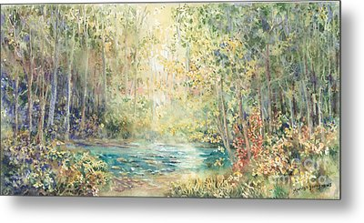 Creek Walk Metal Print by Marilyn Young