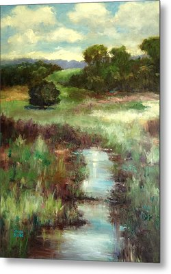 Creekside Morning Metal Print