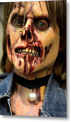 Creepy Bloody Carmen Metal Print