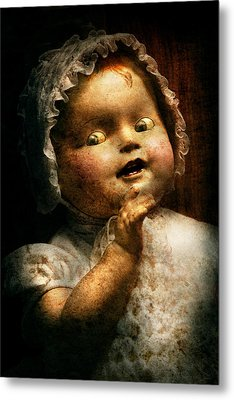 Creepy - Doll - Come Play With Me Metal Print by Mike Savad