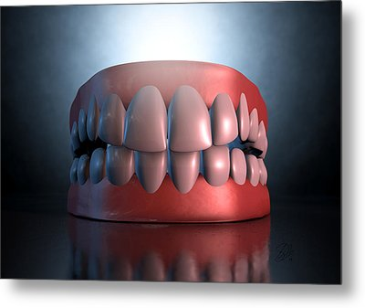 Creepy Teeth  Metal Print by Allan Swart