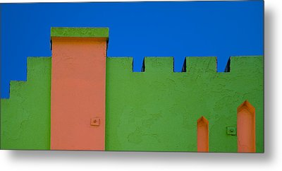 Crenellated Roof Metal Print