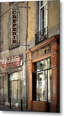 Creperie In Clermont Ferrand France Metal Print by Georgia Fowler